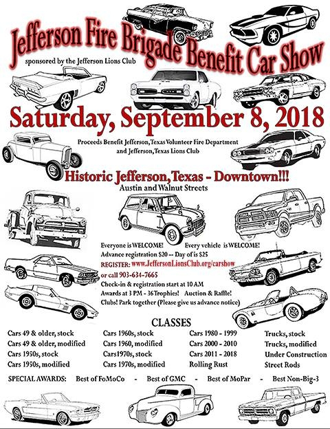 Jefferson Fire Brigade Benefit Car ShowLions Club - Jefferson car show