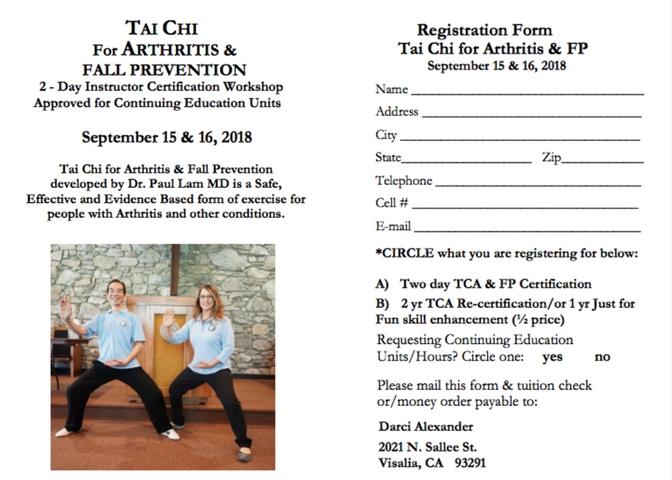 Tai Chi For Arthritis Fall Prevention
