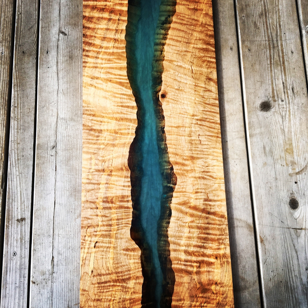 Wood & Epoxy: River Board Wall Art