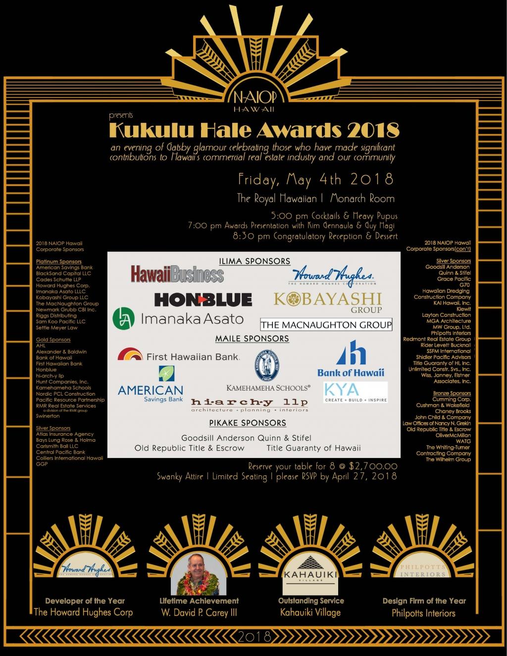 NAIOP Hawaii Kukulu Hale Awards Ceremony