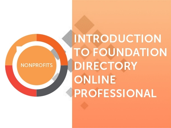 Directory of grantmakers online dating