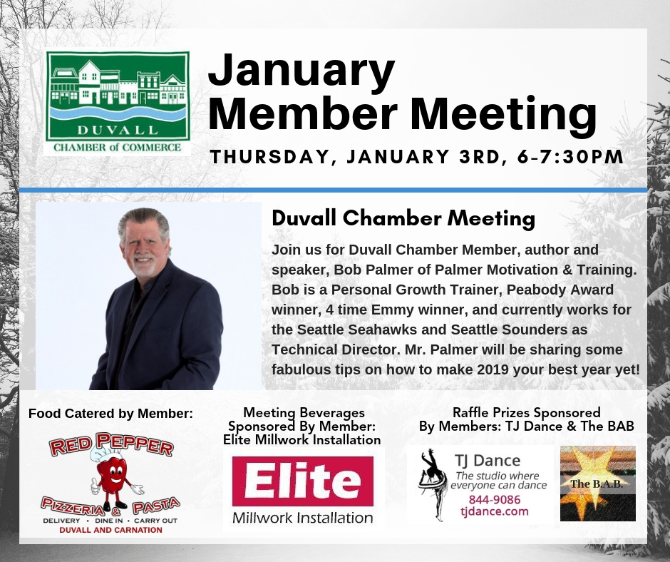 Duvall Chamber of Commerce January Meeting (for Members