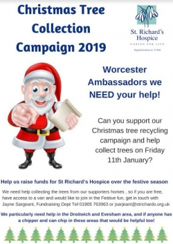 St Richards Hospice Christmas Tree Collection 2019